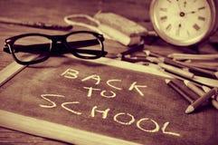 Dra tillbaka till skolan i duotone Royaltyfria Bilder