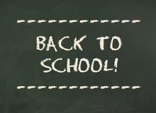 Dra tillbaka till skolan! Inskrift på svart tavla Royaltyfri Foto