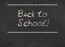 Dra tillbaka till skolan! Inskrift på svart tavla Fotografering för Bildbyråer