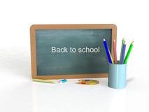 Dra tillbaka till skolan på en vit bakgrund Fotografering för Bildbyråer