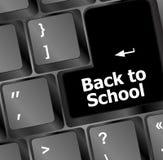 Dra tillbaka till skolan, utbildningsbegrepp: datortangentbord, tillbaka till skolan Royaltyfria Bilder