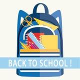 Dra tillbaka till skolan! Vandra mycket av skolautrustning Royaltyfri Foto