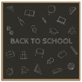 Dra tillbaka till skolan, vektorillustration Royaltyfri Foto