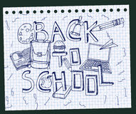 Dra tillbaka till skolaprovbok 02 A Royaltyfri Foto