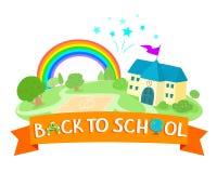 Dra tillbaka till skolasymbolsdesignen Fotografering för Bildbyråer