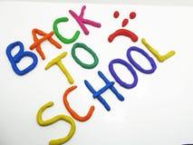 Dra tillbaka till skolauttrycket Royaltyfri Fotografi