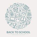 Dra tillbaka till skolavektorbakgrund Arkivfoto