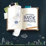Dra tillbaka till skolboken royaltyfri illustrationer