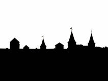 Dra upp konturernaa av av slott Arkivbilder
