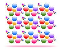 Dra vektorblommor, sömlös textur vektor illustrationer