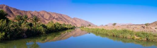 Draa river in Morocco Stock Photos