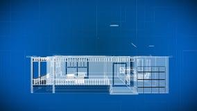 Draad 3d de Bouwblauwdrukken vector illustratie