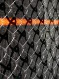 Draad en de omheining van de netwerkbouw. stock afbeeldingen