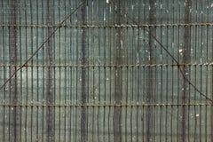 Draad en glasachtergrond Stock Foto