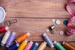 Draad en het naaien royalty-vrije stock fotografie