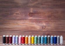 Draad en het naaien stock afbeeldingen