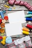 Draad en het naaien royalty-vrije stock foto's