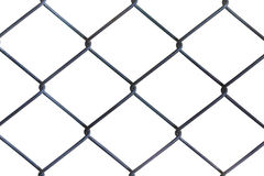 Draad Mesh Fence Witte achtergrond Stock Foto's