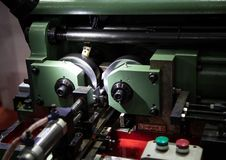 Draad rollende machine stock foto's