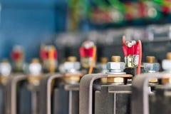 Draad, terminals, transistors en condensatoren royalty-vrije stock afbeelding