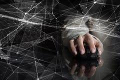 Draadloos verbindings 3D teruggevend concept Gemengde media Stock Afbeeldingen