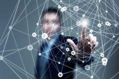 Draadloos verbindings futuristisch concept Stock Afbeelding