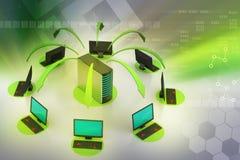 Draadloos voorzien van een netwerksysteem Stock Afbeeldingen