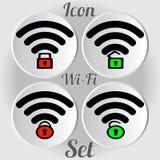 Draadloos WiFi sloot en opende pictogram stock foto