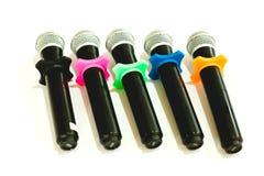 Draadloze microfoons voor conferentie in vergaderzaal Het is isola Stock Fotografie