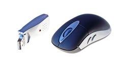 Draadloze optische muis Stock Afbeelding
