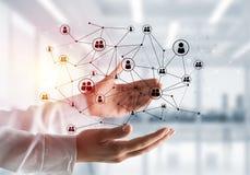 Draadloze technologieën als middelen van bedrijfsmededeling Stock Afbeelding