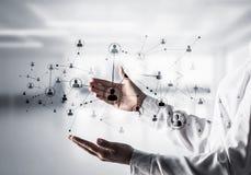 Draadloze technologieën als middelen van bedrijfsmededeling Royalty-vrije Stock Afbeelding