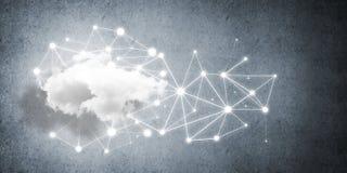Draadloze technologieën voor verbinding en het delen van gegevens als abstract concept Royalty-vrije Stock Foto's