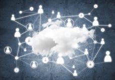 Draadloze technologieën voor verbinding en het delen van gegevens als abstract concept Royalty-vrije Stock Afbeeldingen