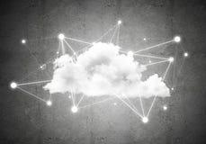 Draadloze technologieën voor verbinding en het delen van gegevens als abstract concept Royalty-vrije Stock Afbeelding
