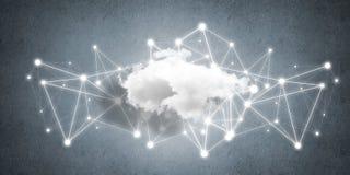 Draadloze technologieën voor verbinding en het delen van gegevens als abstract concept Royalty-vrije Stock Foto