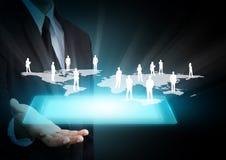 Draadloze technologie en sociale media Stock Afbeelding