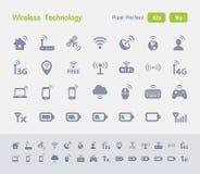 Draadloze Technologie | Granietpictogrammen Royalty-vrije Stock Afbeeldingen