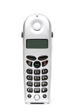 Draadloze telefoon over wit stock afbeeldingen