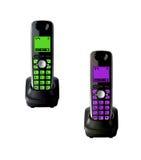 Draadloze telefoons met geïsoleerde wieg royalty-vrije stock foto