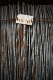 Draadmetaal met corrosie voor anker in baaien Stock Foto