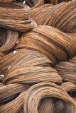 Draadmetaal met corrosie voor anker in baaien Stock Foto's