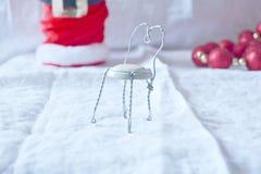 Draadstuk speelgoed stoel Stock Foto