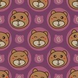 Draag beer hoofd slechts naadloos patroon vector illustratie