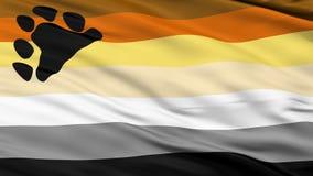 Draag Broederschap Dichte omhoog Golvende Vlag royalty-vrije illustratie
