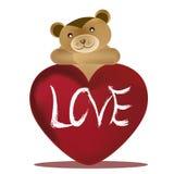 Draag en de dag van de valentijnskaart Vector Illustratie