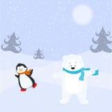 Draag en pinguïn. Royalty-vrije Stock Fotografie