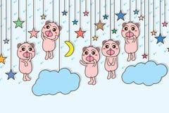 Draag hangen hemelkaart Stock Foto's