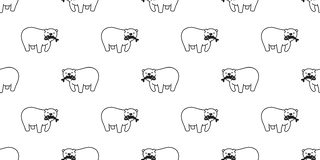 Draag naadloos patroon de vectorvissen van de ijsbeerpanda geïsoleerde vangst behang achtergrondbeeldverhaal herhalen vector illustratie