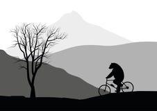 Draag op een fiets. vector illustratie